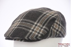 Flatcap Canda dark grey plaid 58 [as new]